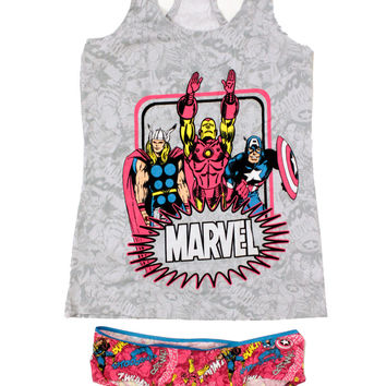 Womens Junior Avengers 2pc Cami and Panty Set