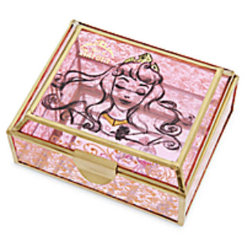 Aurora Glass Jewelry Box - Sleeping Beauty