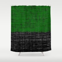 platno (green) Shower Curtain by Trebam