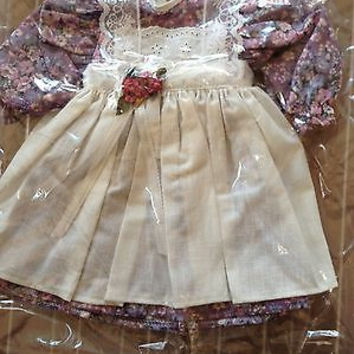 """American Girl Size 18"""" New MIP 2pc Love My Garden Dress PEREECT FOR GRACE THOMAS"""