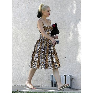 Paris Dress in Bernie's Leopard Print