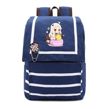 Anime Backpack School Kantai Collection Games Backpack kawaii cute Shimakaze School bag Cute Girl Dalily Backpacks Large Storage Space Laptop Bags AT_60_4