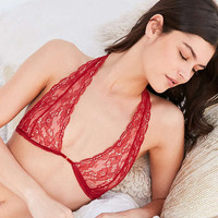 Out From Under Front Closure Lace Halter Bra - Urban Outfitters