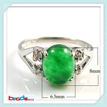 beadsnice id26400 antique sterling silver rings 925 with malaysian jade