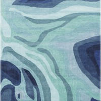 Pigments Area Rug Blue, Green