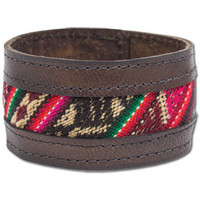 NEW! Aguayo Recycled Leather Bracelet: Soul-Flower Online Store