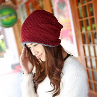 Polka Dot Knitted Hat