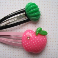 An Apple For The Teacher Hair Clip Set