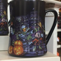 disney parks haunted mansion halloween mickey & friends ceramic coffee mug new