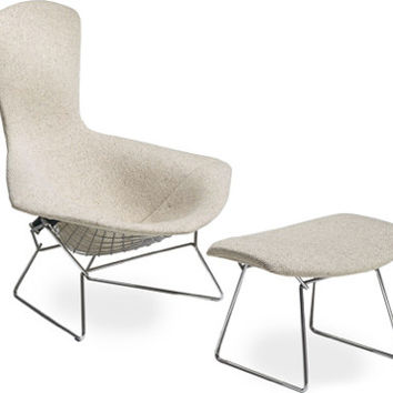 Bertoia Bird Chair and Ottoman