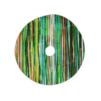 """Frederic Levy-Hadida """"Fancy Stripes Green"""" Tree Skirt"""