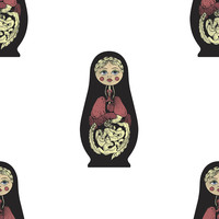 Russian Doll Removable Wallpaper