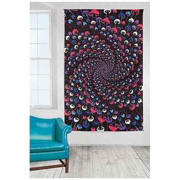 Handmade Cotton 3D Magic Mushrooms Tapestry 60x90 Inches Tablecloth Bedspread Beach Sheet Sun Canopy