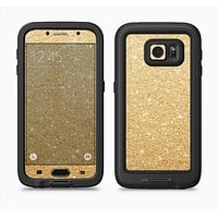 The Gold Glitter Ultra Metallic Full Body Samsung Galaxy S6 LifeProof Fre Case Skin Kit