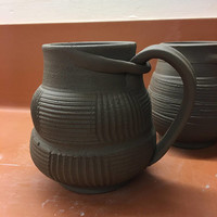 Unique Textured Coffee Mug, Ceramic Coffee Mug, Wheel Thrown Mug UQTJUL17M9 19 OZ