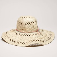 AEO Women's Beaded Floppy Hat (Natural)