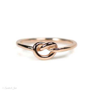 Rose Gold Over Sterling Silver Love Knot Ring