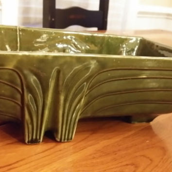 Vintage Large Green Art Deco California Pottery Planter CP-1263 USA Perfect For Spring Flowers