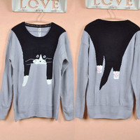 Hanging Cat Sweater Pullover