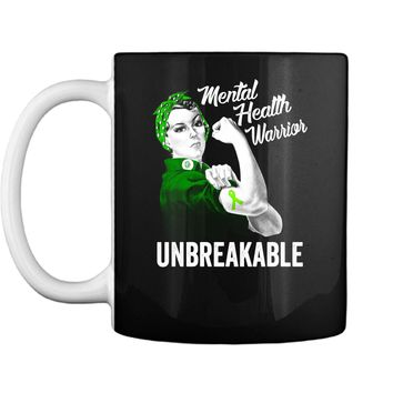 Mental Health Warrior Unbreakable Awareness Mug