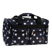 Rockland Luggage 19 In Tote Bag Travel Duffle Carry On Freestyle Black Polka Dot