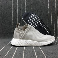 Adidas Boost Nmd CS2 Kith x Naked x Adidas Consortium Grey Women Men Fashion Trending Running Sneakers