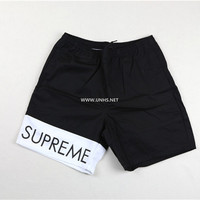 Free Shipping 16ss Banner Water Shorts red black pink,Shorts