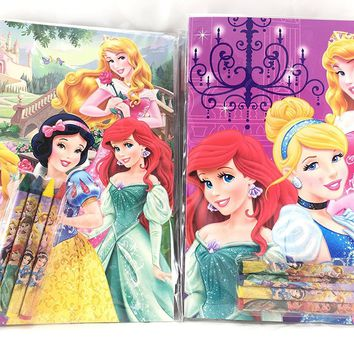 Party Favors Princess Coloring Book & Crayon Set 12 Pack ( Assorted Style)