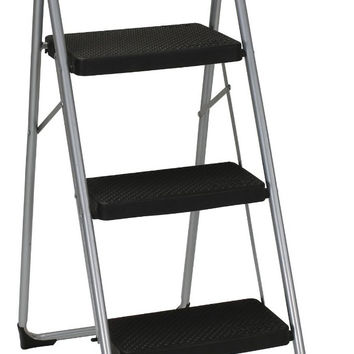 Cosco 11-402CLGG2 Big Step Stool, 3-Step, Gray
