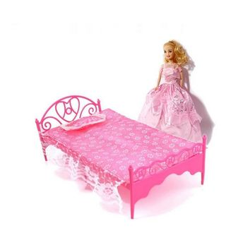 Fashionable Bed Bedroom Furniture Girls Dolls Dollhouse