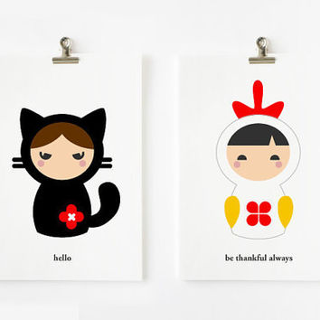 Positive inspiring words animal matryoshka flashcards by loopzart