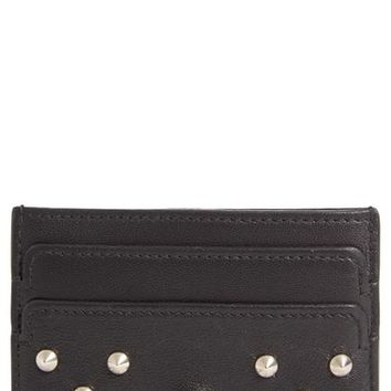Alexander McQueen Studded Buffalo Leather Card Holder | Nordstrom