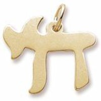 Chai Charm in Yellow Gold Plated