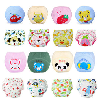 1 piece! Baby Diapers/Children Reusable Underwear/Breathable Diaper Cover/Cotton Training Pants/Can Tracked