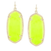 Elle Earrings in Neon Yellow - Kendra Scott Jewelry
