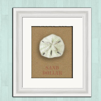Sand dollar printable digital download, beach cottage chic wall decor, nautical instant download, printable art, shabby cottage, home decor