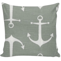 anchor couch throw pillow