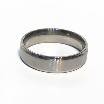 2017 new Luxury 6MM Titanium Band Brushed Wedding Stainless Steel Solid Ring Men Women