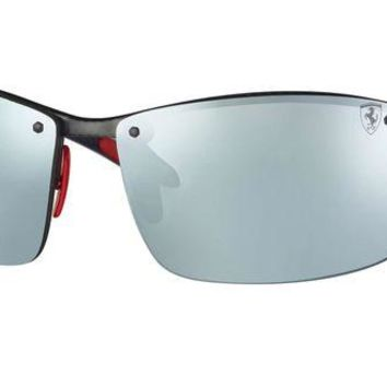 Kalete Authentic RAY-BAN 8305M - F005H1 Sunglasses Polarized Silver Mirror *NEW* 64mm