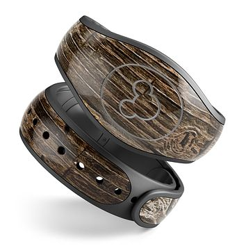 Rough Textured Dark Wooden Planks - Decal Skin Wrap Kit for the Disney Magic Band