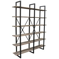 Highline Vintage Industrial 6-Shelf Unit in Black Powder Coat Finish