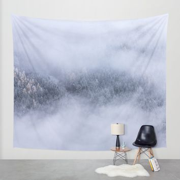 Beneath The Fog Wall Tapestry by Mixed Imagery
