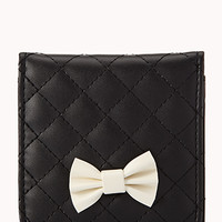 Quilted Faux Leather Hand Mirror | FOREVER 21 - 1000050994