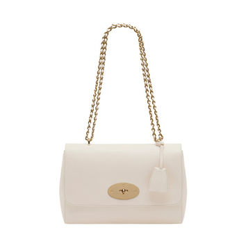 Medium Lily in Cream Glossy Goat | Women's Bags | Mulberry
