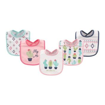 Cactus Interlock Drooler Bib Set