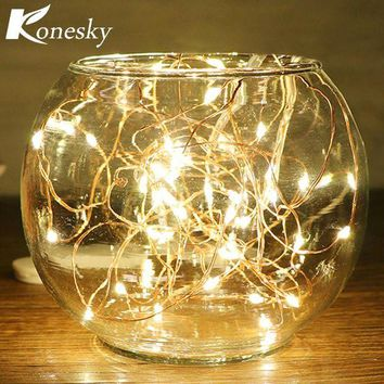 ONETOW 5m/16.4ft 50-LED Copper Wire String Light for Glass Craft Bottle Fairy Valentines Wedding Lamp Party Xmas   wedding decoration