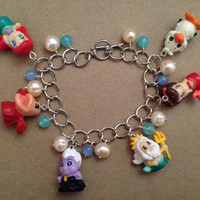 Squinkies Charm Bracelet - Disney The Little Mermaid - made from re-purposed toys