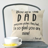 Personalised The Best Dad Cushion Cover