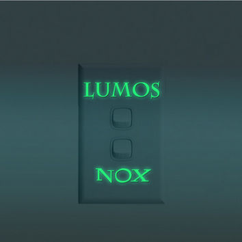 Harry Potter Lumos Nox Luminous Light Switch Sticker