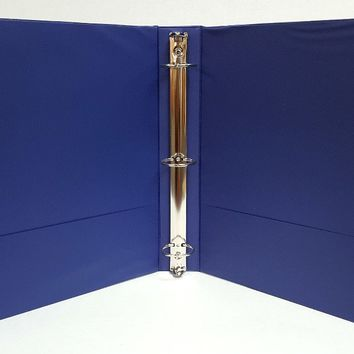 "1"" Basic 3-Ring Binder w- Two Inside Pockets - Blue - CASE OF 12"